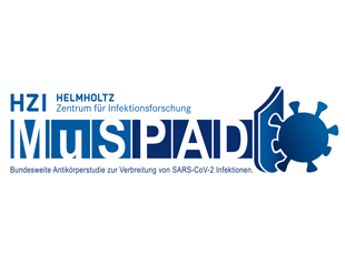 MuSPAD logo in blue and white.