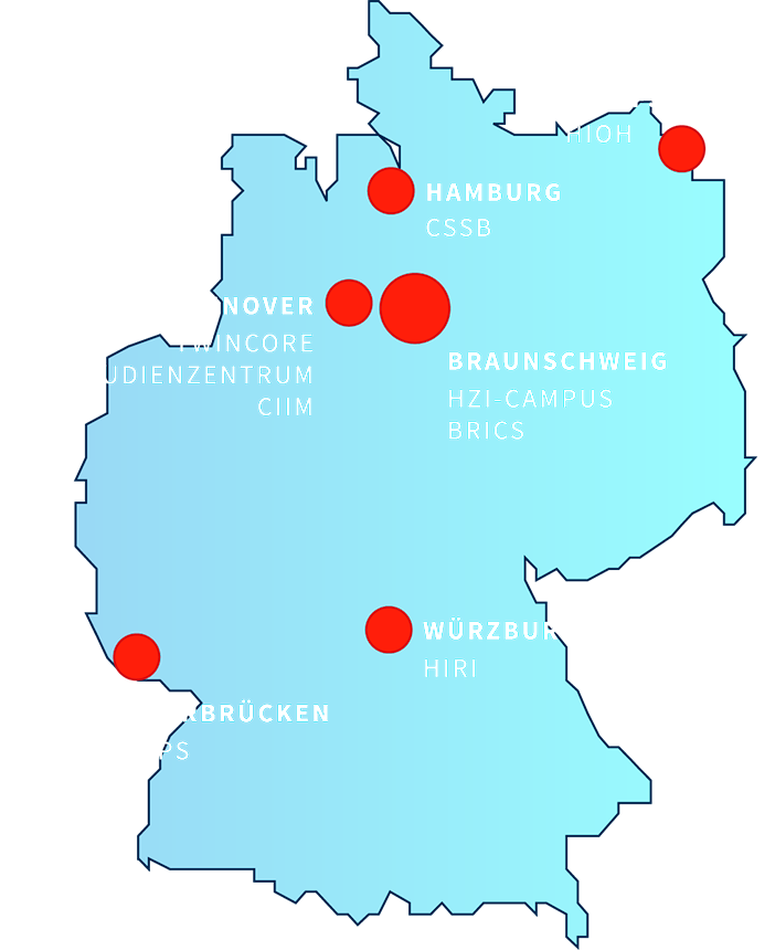 Locations of the Helmholtz Centre